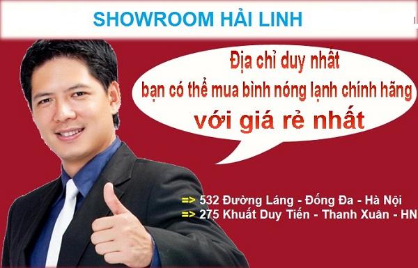 Showroom Hải Linh nhà phân phối bình nóng lạnh rẻ nhất Hà Nội