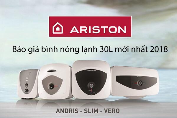 Showroom Hải Linh báo giá bình nóng lạnh Ariston 30L tốt nhất tại Hà Nội