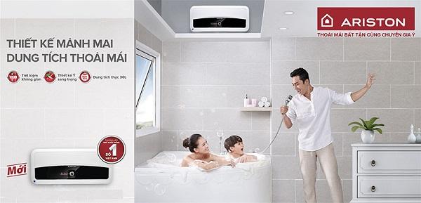 Thiết kế của bình nước nóng Ariston 30L Slim 30 ST vô cùng mảnh mai